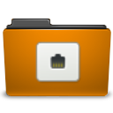 folder orange remote icon