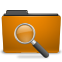 orange search icon