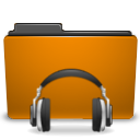 folder orange sound icon