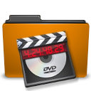 folder orange video icon