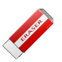 clean delete eraser icon