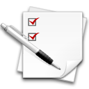 centang check checklist equiry list poll task todo write icon