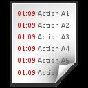 data log text x icon