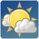 clouds few sun weather icon