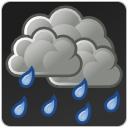rain scattered showers weather icon