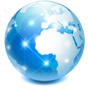 browser earth globe internet network world icon