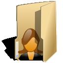 folder user female