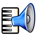 keyboard music sound speaker icon