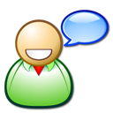 chat dicussion board forum happy talk user icon