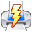 lightning power print quick icon