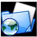 blue folder folders html icon