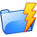 folder lightning power icon