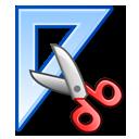 design measure ruler scissors triangle icon