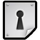 encrypted file key hole lock icon