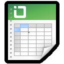 document excel spreadsheet icon
