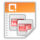 application powerpoint presentation icon