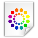 color wheel colors file icon
