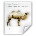 application camel perl x icon