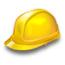 hat helmet industry job safety worker icon