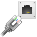 cable connect ethernet network icon