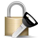 cryptography key lock log in login password security icon