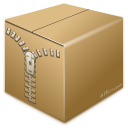 archive box inventory zip icon