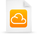 cloud document file g14303 orange paper icon