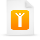 document file g16109 men orange paper icon
