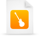 document file guitar instrument music orange paper icon