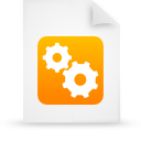 document file g21510 orange paper icon