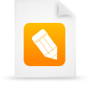 document file g38802 orange paper icon