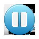 button blue pause
