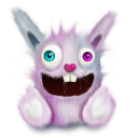 rabbit animal pink smile