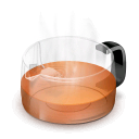 Glass Teapot (red)