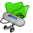 folder green mymusic