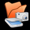 folder orange scanners & cameras