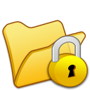 folder yellow locked