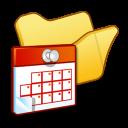folder yellow scheduled tasks
