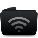 folder black wifi