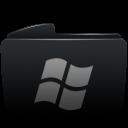 folder black window