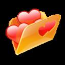 folder hearts love