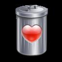 recyle bin heart love