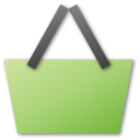 shopping basket green