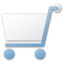 shopping cart blue