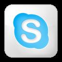 social skype box white