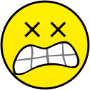 dead with mouth smiley smile emoticon emoticons emotions emotion human face head