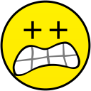 extremely scared smiley smile emoticon emoticons emotions emotion human face head