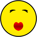 kissing smiley smile emoticon emoticons emotions emotion human face head