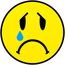 sadly crying smiley smile emoticon emoticons emotions emotion human face head