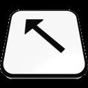 стрелка левом верхнем диагональные
